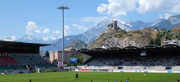 Stade Tourbillon mountain views