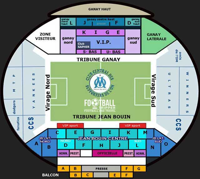 New Stade Velodrome Seating Plan