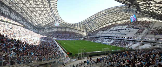 Main stand of Stade Velodrome