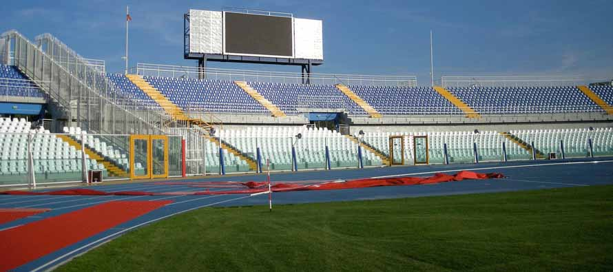 The Scoreboard inside Stadio Adriatico Pescara