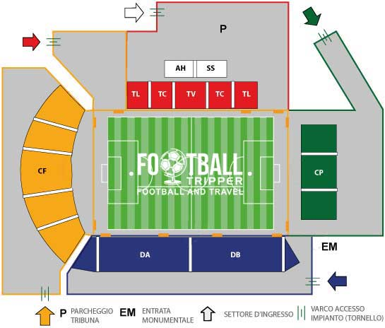 stadio alberto picco Seating Plan