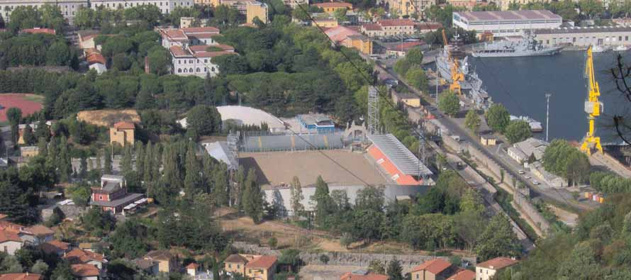 Aerial View of Stadio Alberto Picco