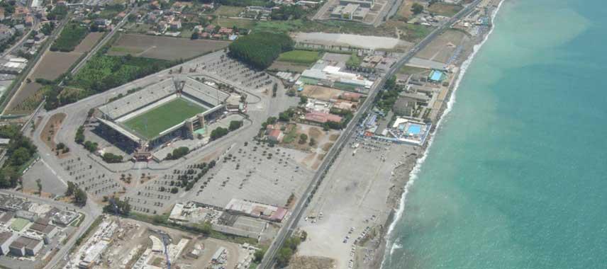 Aerial view stadio arechi
