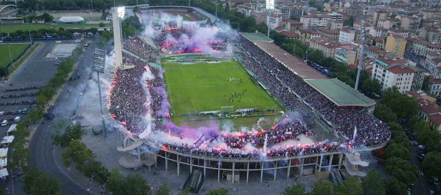 Aerial View of Stadio Artemio Franchi