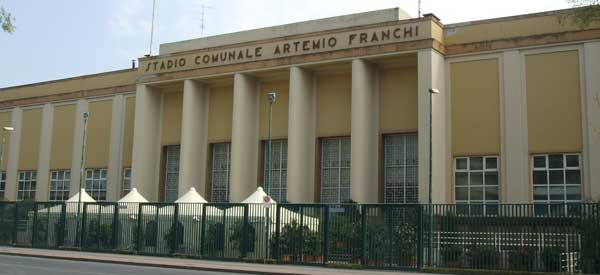 The stylish exterior of Artemio Franchi's main stand.