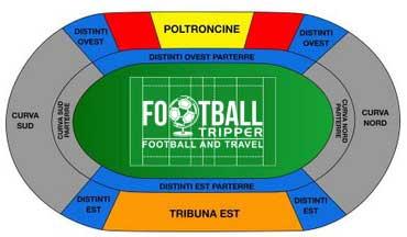 Stadio Cino e Lillo Del Duca map