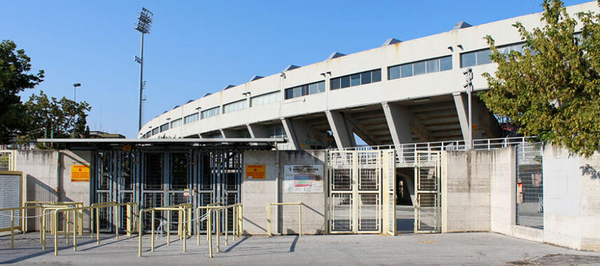 Exterior of Ravenna's Stadio Benelli