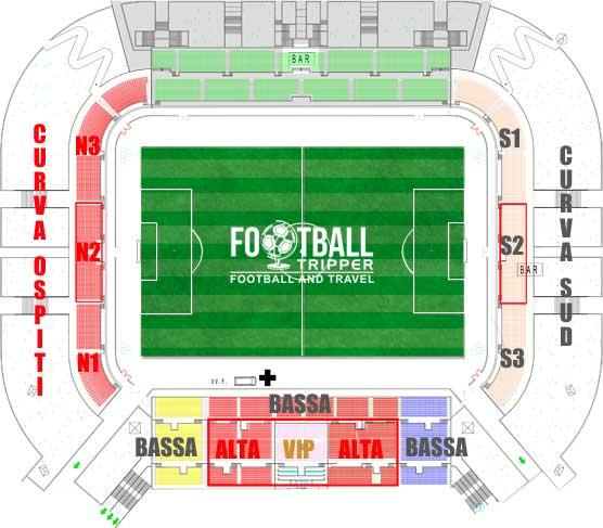 Stadio Brianteo seating plan
