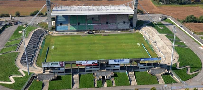 Aerial view of Stadio Brianteo