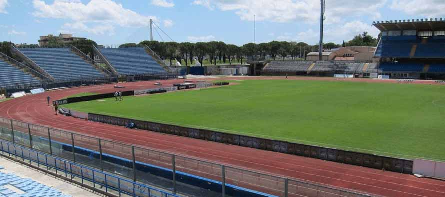 Inside the empty Stadio Carlo Castellani