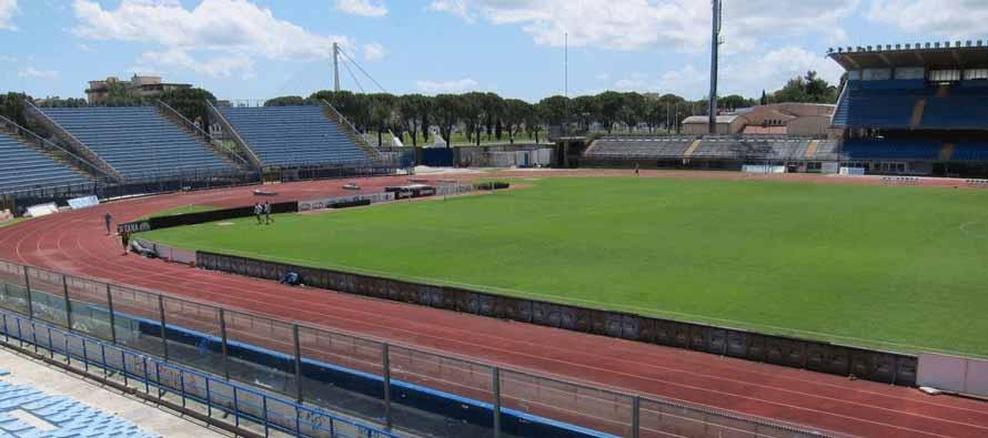 Inside the empty Stadio Carlo Castellani