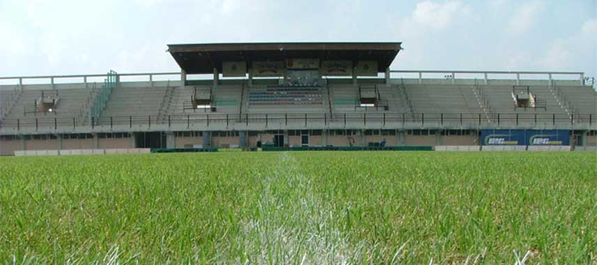 The main stand of FC Castiglione's stadium