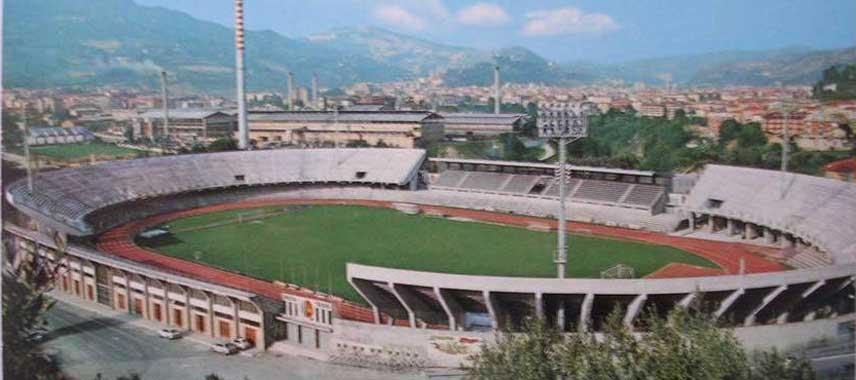 Aerial view of Stadio Cino e Lillo Del Duca