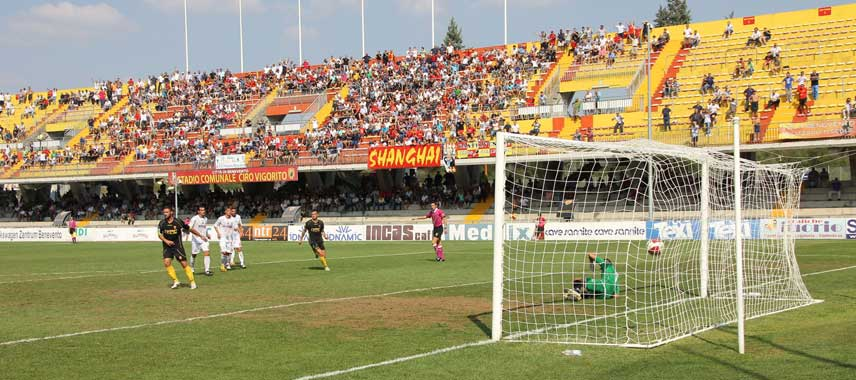 View of the pitch and stand at Stadio Ciro Vigorito