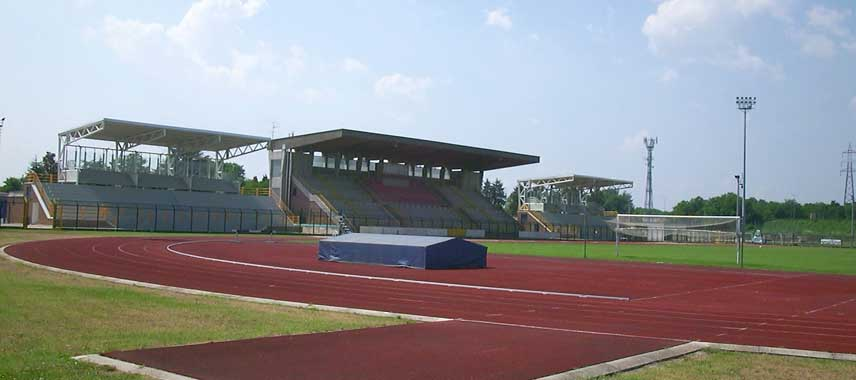 Main stand of Stadio Citta di Meda
