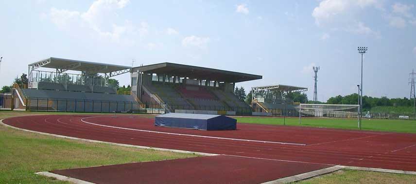Main stand of Stadio Citta di Meda