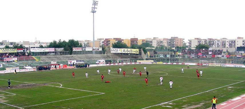 Football match underway at Stadio Cosimo Puttilli