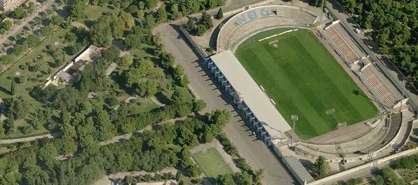 Stadium of the olives aerial view
