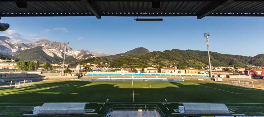 Inside Stadio de Marmi in Carrara