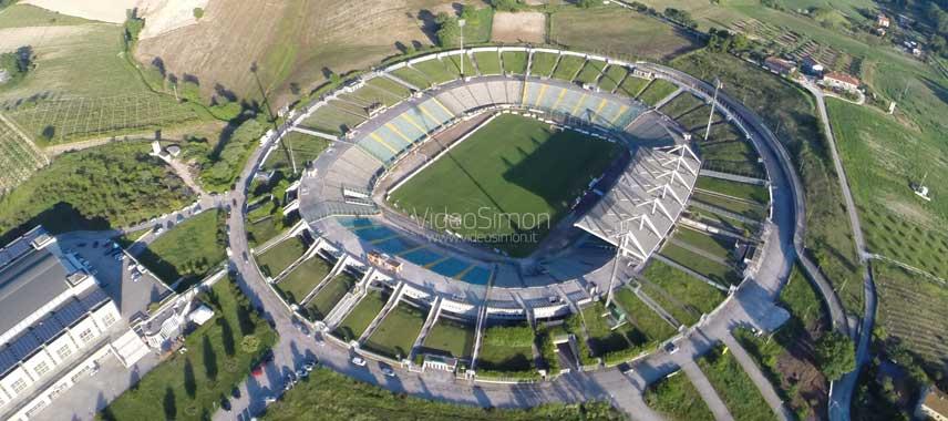 Aerial view of Stadio Del Conero