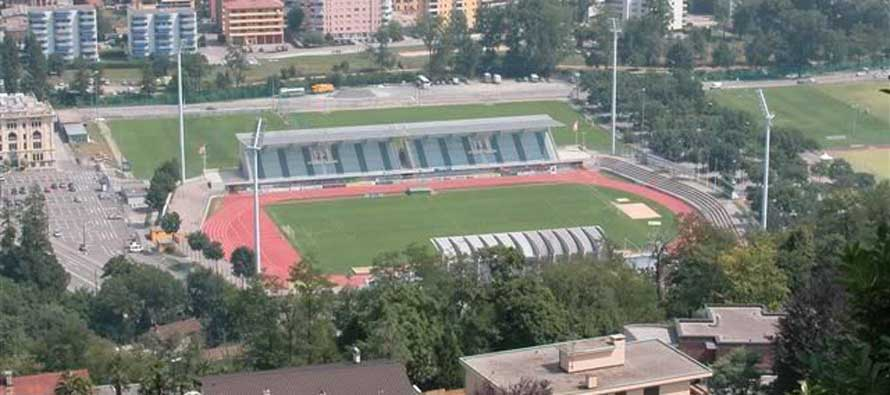Aerial view of Stadio Cornaredo