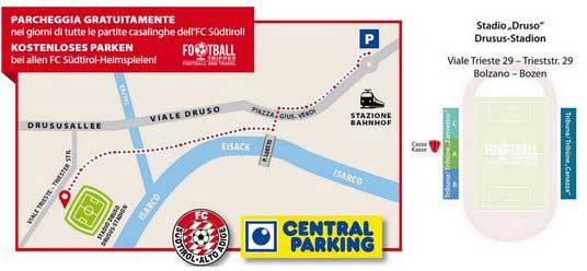Stadio Druso access map