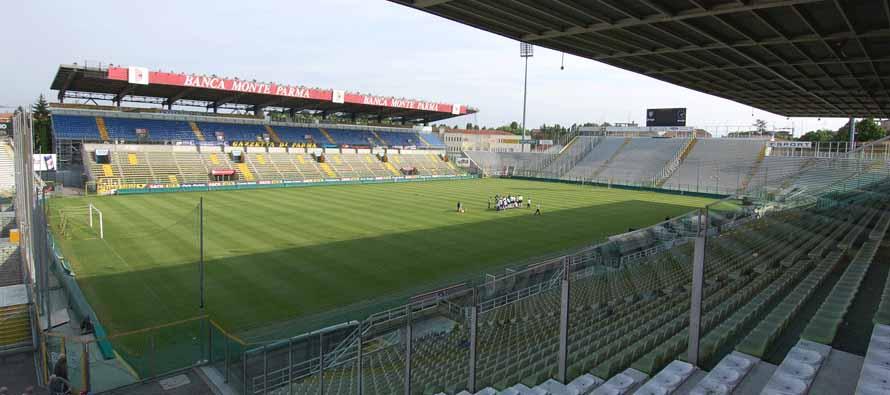 Inside empty Stadio Ennio Tardini