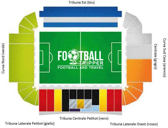 stadio ennio tardini Seating Plan