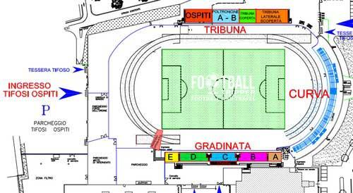 Stadio Enzo Blasone map