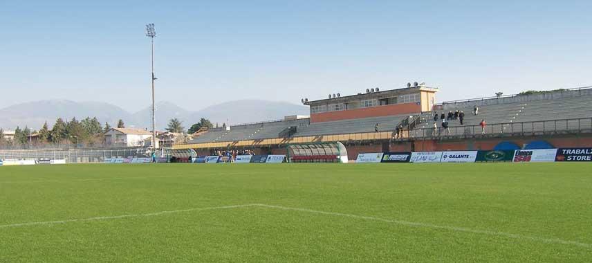 The pitch inside Stadio Enzo Blasone