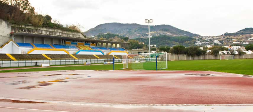 Inside Stadio Enzo Mazzella