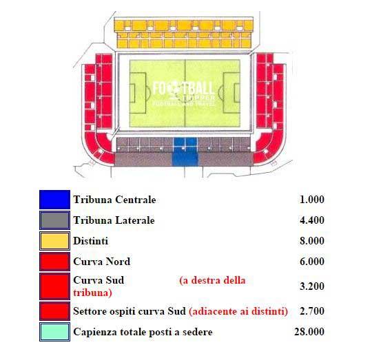 Stadio Erasmo Iacovone map