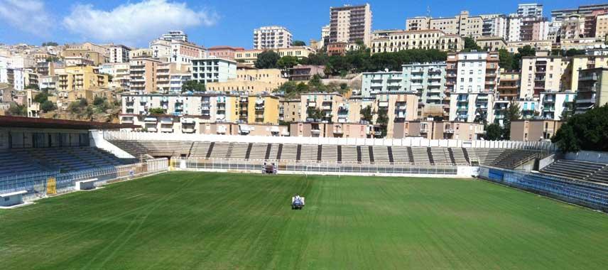 Goal mouth view of Stadio Esseneto