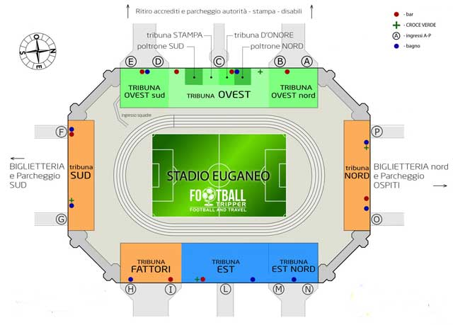 Stadio Euganeo seating map