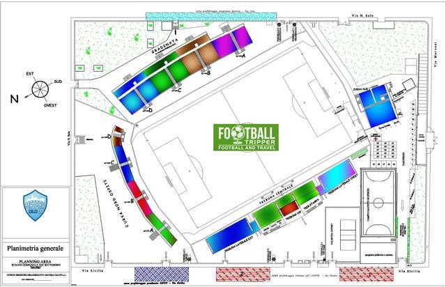 Franco Salerno stadium map