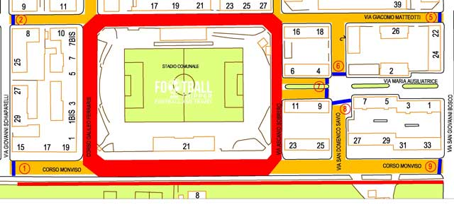 Stadio Fratelli Paschiero map