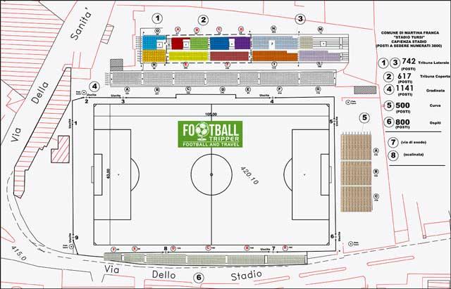 Stadio Gian Domenico Tursi map