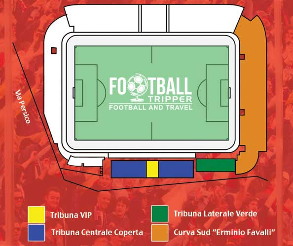 Stadio Giovanni Zini seating map