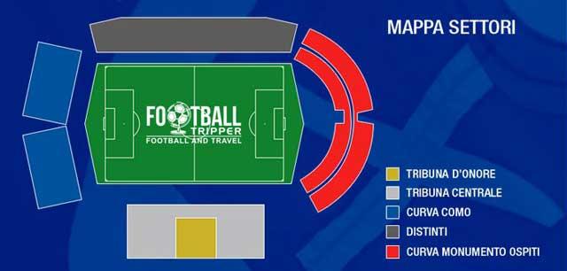 Stadio Giuseppe Sinigaglia seating chart