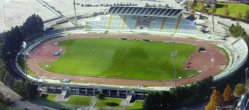 Aerial view of Stadio Guido Angelini