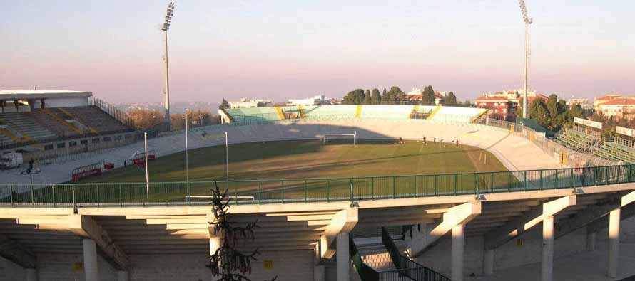 View of empty Stadio Guido Biondi