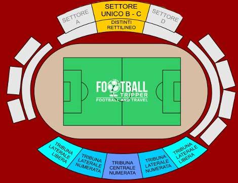 Stadio Leonardo Garilli map