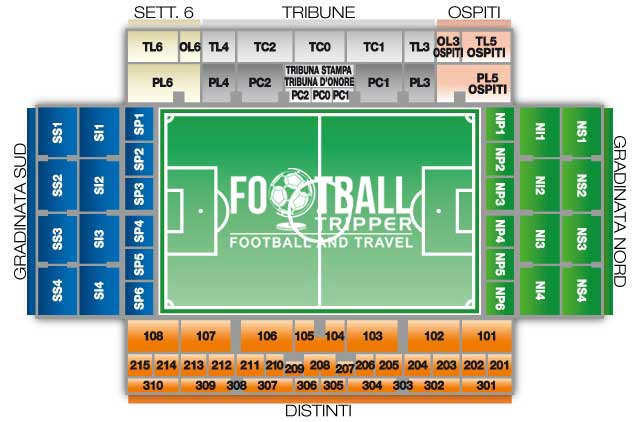 stadio lugii ferraris Seating Plan