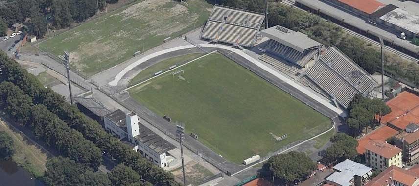 Aerial view of Stadio Lungobisenzio
