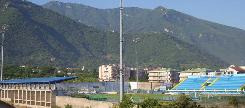 Mountainous view of Stadio Marcello Torre