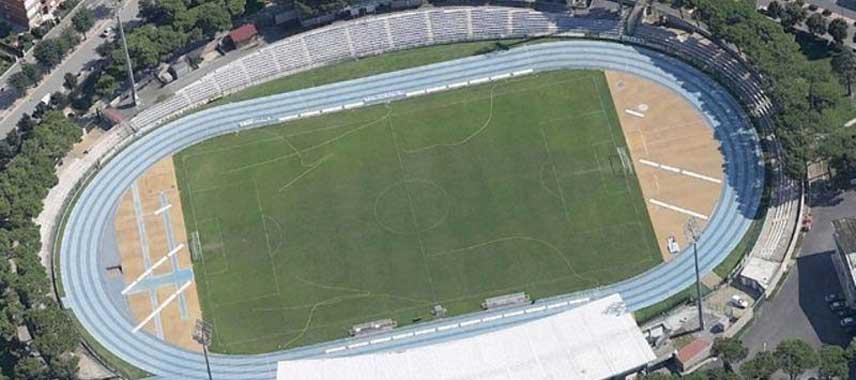 Aerial view of Stadio Olimpico Carlo Zecchi
