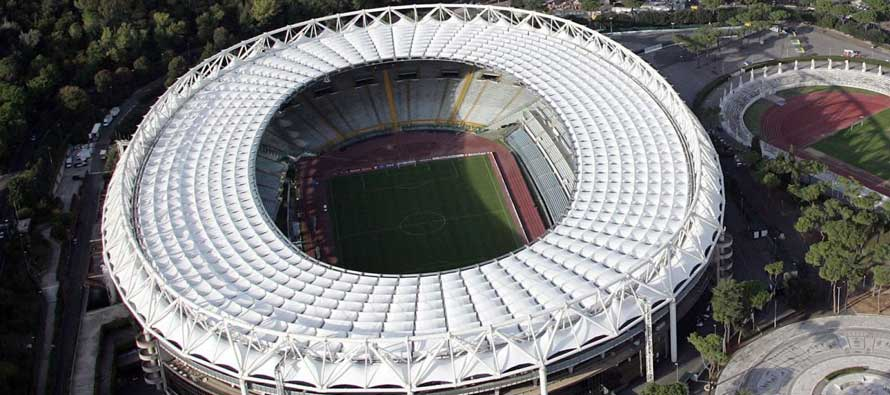 Aerial view of Stadio Olimpico Rome