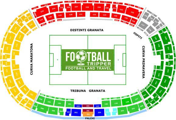 stadio olimpico torino Seating Plan