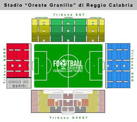 Stadio Oreste Granillo seating chart