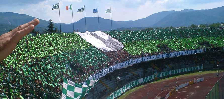 Curva at Stadio Partenio Adriano Lombardi